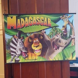 RARE! canvas MADAGASCAR  poster